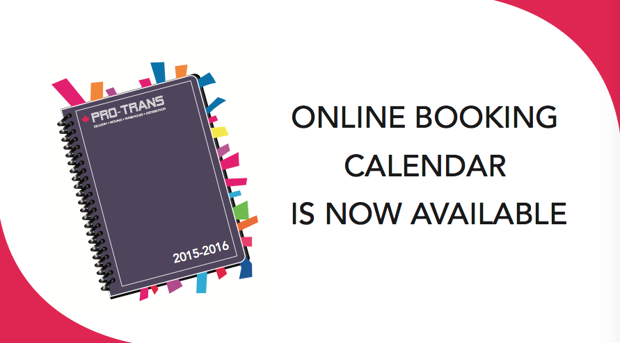 Pro-Trans Online Booking Calender